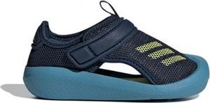 Granatowe buty dziecięce letnie Adidas na rzepy