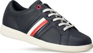 Buty sportowe dziecięce Tommy Hilfiger sznurowane ze skóry