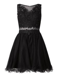 Czarna sukienka Laona mini z tiulu rozkloszowana