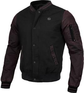 Czarna kurtka Pit Bull z bawełny w młodzieżowym stylu