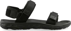 Czarne buty letnie męskie 4fsklep.pl w stylu casual