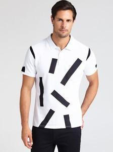 Koszulka polo Guess by Marciano z krótkim rękawem w geometryczne wzory w młodzieżowym stylu