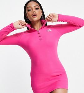 Sukienka The North Face z długim rękawem mini w sportowym stylu