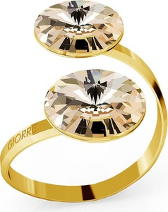 Super złote pierścionki szerokie - stylowo i modnie z Allani MI35