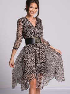 Sukienka Versada w stylu casual midi kopertowa