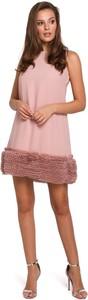Sukienka Makover bez rękawów z tkaniny mini