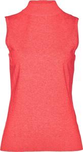 Czerwona kamizelka bonprix bpc selection krótka w stylu casual