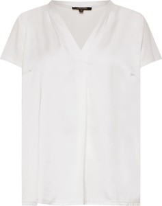 Bluzka More & More z krótkim rękawem z dekoltem w kształcie litery v