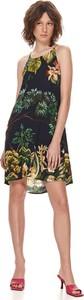 Zielona sukienka Top Secret z okrągłym dekoltem bez rękawów