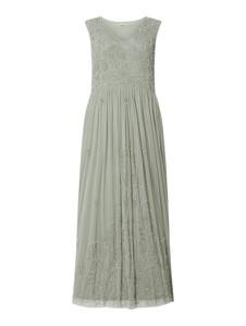 Sukienka Lace & Beads rozkloszowana bez rękawów z okrągłym dekoltem