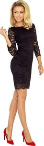 Czarna sukienka NUMOCO z okrągłym dekoltem bodycon