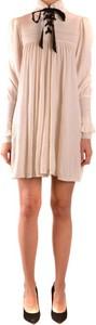 Różowa sukienka Philosophy z długim rękawem mini