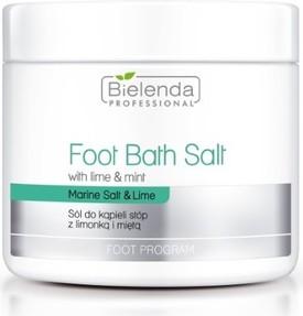 Bielenda Professional, Foot Bath Salt With Lime & Mint, sól do kąpieli stóp z limonką i miętą, 600 g