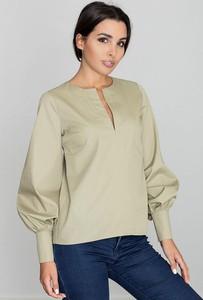 Zielona bluzka Figl z bawełny