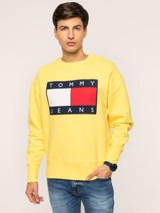 Żółta bluza Tommy Jeans z nadrukiem
