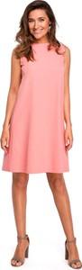 Różowa sukienka MOE mini bez rękawów