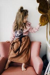 Brązowa spódniczka dziewczęca Mizerki Kids