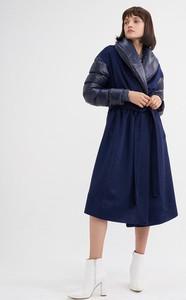 Granatowy płaszcz BGN