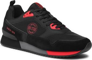 Czarne buty sportowe Big Star w sportowym stylu sznurowane