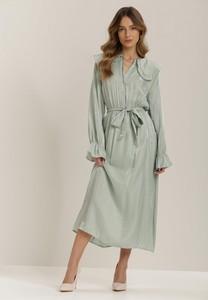 Zielona sukienka Renee z długim rękawem midi