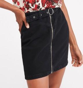 Czarna spódnica Reserved z jeansu w street stylu mini
