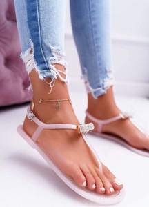Różowe sandały Lu Boo z klamrami