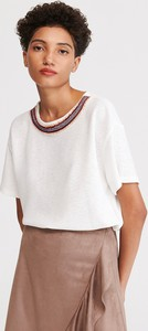 Bluzka Reserved z krótkim rękawem z okrągłym dekoltem