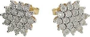 Lovrin Złote kolczyki 585 delikatne kwiaty diamenty
