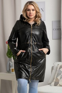 Czarna kurtka KARKO długa w stylu casual