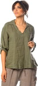 Zielona bluzka La Fabrique Du Lin w stylu casual