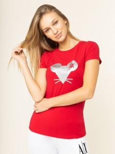 Czerwony t-shirt Armani Exchange