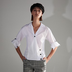 Koszula Reserved w stylu casual bez kołnierzyka z krótkim rękawem