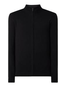 Czarny sweter McNeal ze stójką w stylu casual z dzianiny