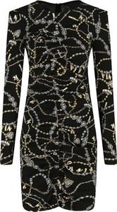 Czarna sukienka Pinko w stylu casual z długim rękawem