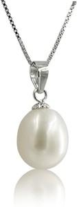 Braccatta AIKO BIANCO Srebrny naszyjnik z naturalną białą perłą