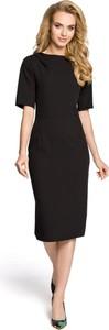 Sukienka MOE midi z krótkim rękawem w stylu casual