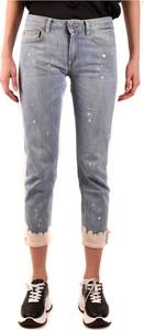 Granatowe jeansy Dondup w stylu casual