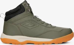 Zielone buty zimowe Umbro sznurowane w sportowym stylu