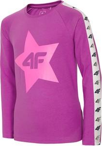 Różowa koszulka dziecięca 4F z długim rękawem