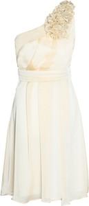 Sukienka Fokus z asymetrycznym dekoltem z szyfonu mini