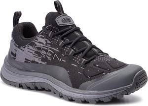 Granatowe buty trekkingowe Keen sznurowane