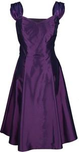 Fioletowa sukienka Fokus z tiulu