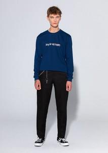 Granatowa bluza LOCAL HEROES z bawełny w młodzieżowym stylu