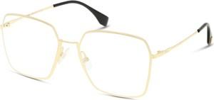 Złote okulary damskie Fendi