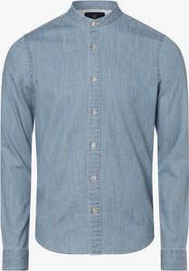 Niebieska koszula Scotch & Soda ze stójką z długim rękawem