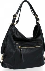 Czarna torebka Herisson na ramię w stylu glamour
