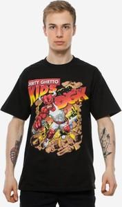 T-shirt Dgk z nadrukiem z krótkim rękawem