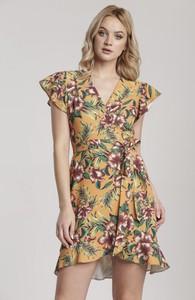 Sukienka Renee w stylu casual z krótkim rękawem kopertowa