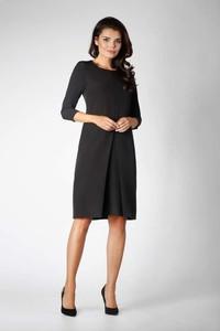 ebc355f536 Sukienka Nommo z długim rękawem z okrągłym dekoltem midi