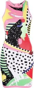 Sukienka Balmain bez rękawów z okrągłym dekoltem mini